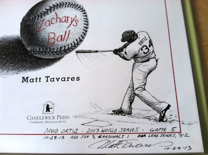 David Ortiz, 2013 World Series. Matt Tavares book giveaway!