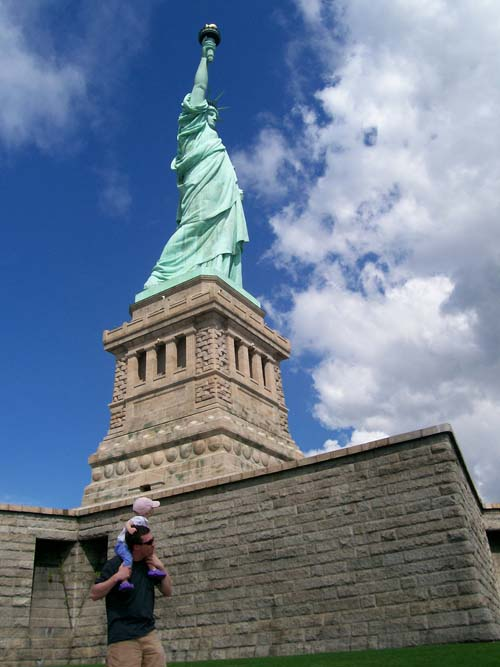 Matt Tavares at the Statue of Liberty